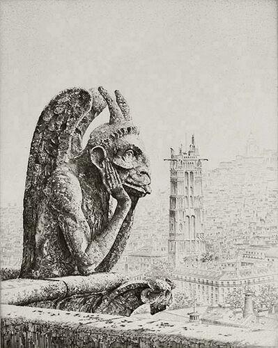 John Taylor Arms, 'LE PENSEUR DE NOTRE DAME', 1923
