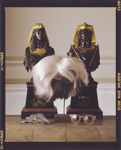 David Gamble, 'Andy Warhol's Wig, Glasses, and Money', 1987