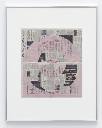 Walead Beshty, 'Blind Collage (Three 180º Rotations, The New York Times, Friday, October 18, 2019)', 2019