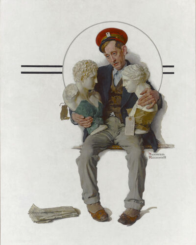 Norman Rockwell, 'Delivering Two Busts', 1931