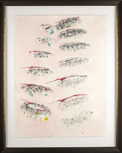 Dale Chihuly, 'Dale Chihuly Untitled Original Signed Watercolor and Pencil Drawing with Embossing', 1986