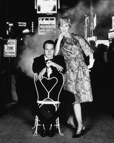 William Helburn, 'Paul Newman & Joanne Woodward in Times Square 2', 1960