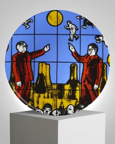 """Gilbert and George, '""""Flight"""" Porcelain Plate', ca. 2019"""