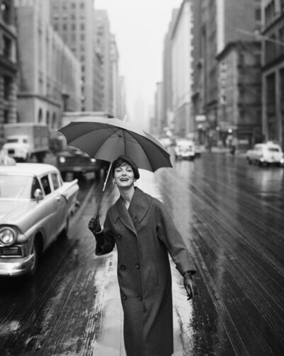 William Helburn, 'Carmen Under an Umbrella, New York', 1958