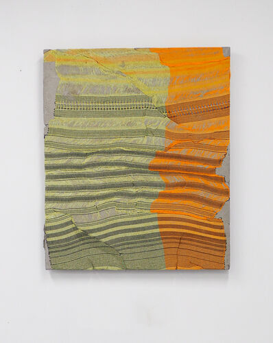 Crystal Gregory, 'Held - Autumn Stripes', 2018