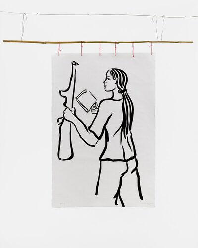 Cecilia Vicuña, 'Girl with Book and Gun', 1975-2021