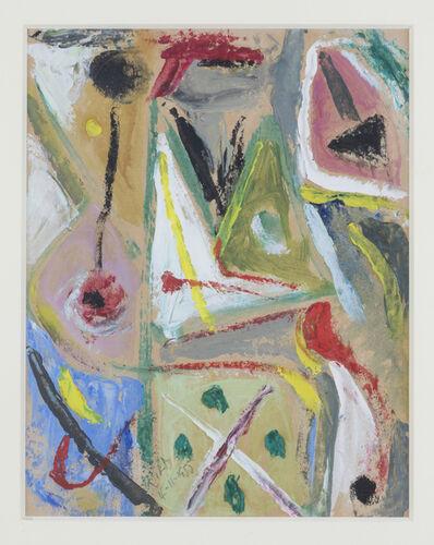 Esteban Lisa, 'Juego con lineas y colores, 4-11-1955', 1955