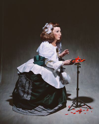 Yasumasa Morimura, 'Living in the realm of the painting (The kneeling maid of honor)', 2013