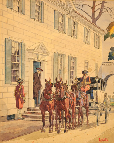 Edward Penfield, 'Washington at Mount Vernon'