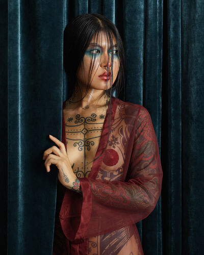 Christian Tagliavini, 'La ragazza tatuata (Portrait)', 2019