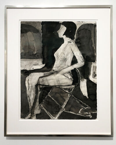 Richard Diebenkorn, 'Untitled (Seating Nude on Folding Chair)', 1967