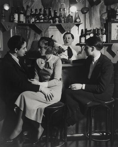 Brassaï, 'Au Monocle, Le bar, A gauche: Lulu de Montparnasse (Le Monocle, the Bar, on the left is Lulu de Montparnasse)', ca. 1932-1933