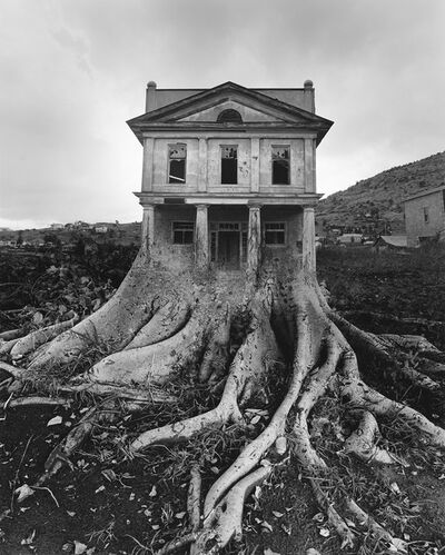 Jerry Uelsmann, 'Untitled (house with roots)', 1982