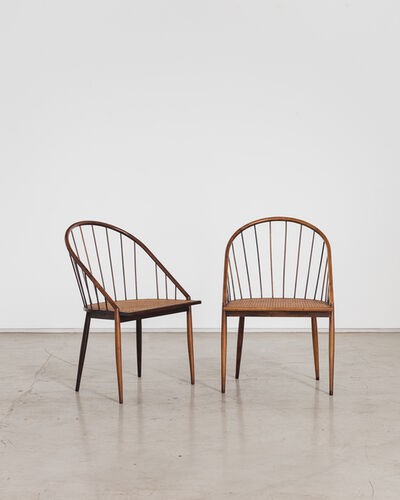 Joaquim Tenreiro, 'Curved Chair With Stick Back', ca. 1960