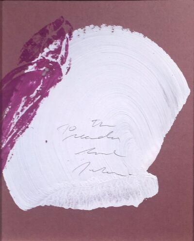 Julian Schnabel, 'To The Reader', 2014