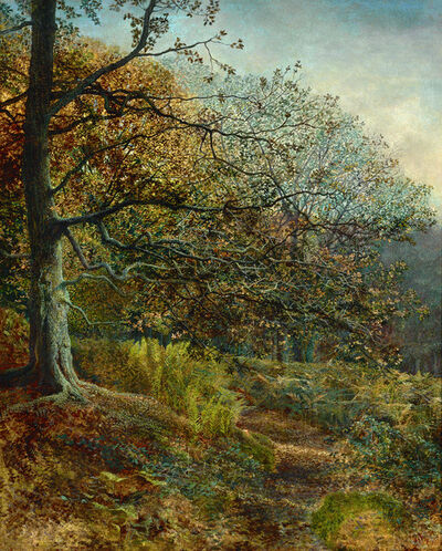 John Atkinson Grimshaw, 'Woodland near Leeds ', Dated 1869
