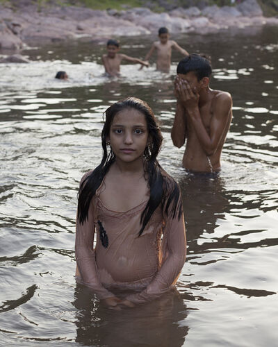 Mahtab Hussain, 'Young Girl Playing in the River', 2016