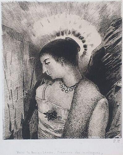 Odilon Redon, 'Voici la Bonne-Déese, L'Idéenne des Montagnes', 1900