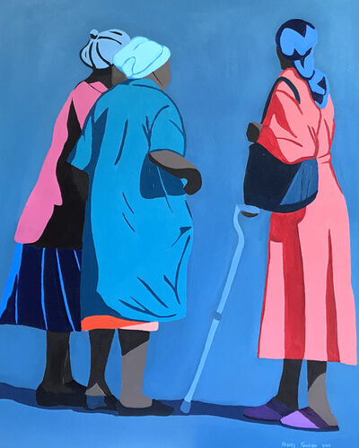 Shakes Tembani, '3 Ladies - one with a crutch', 2019