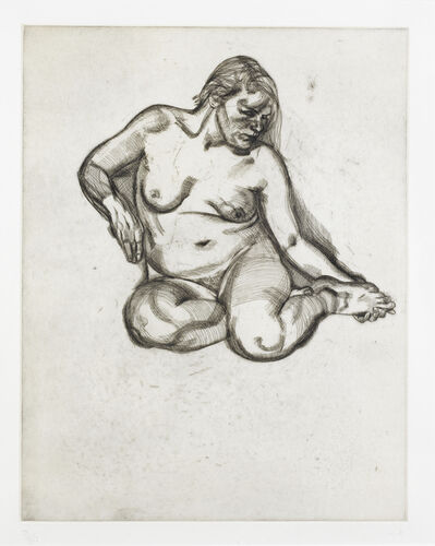 Lucian Freud, 'Girl holding her foot (Hartley 25)', 1985