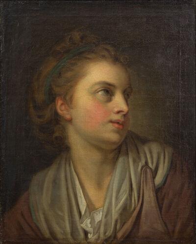 Jean-Baptiste Greuze, 'Head of a Girl', 18th Century