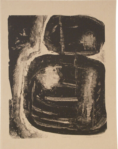 Louise Nevelson, 'Untitled-Undocumented print on brown paper', 1966