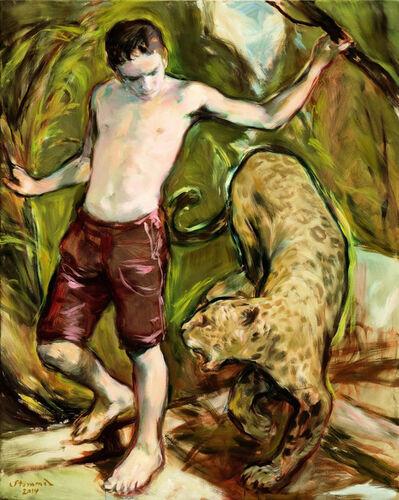 Martin Stommel, 'Junge mit Leoparden', 2014