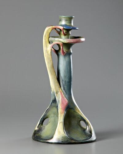 Amphora, 'Wax Drip Candlestick', 1900