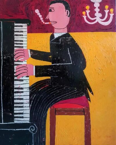 Joachim Lambrechts, 'The Smoking Pianist', 2020