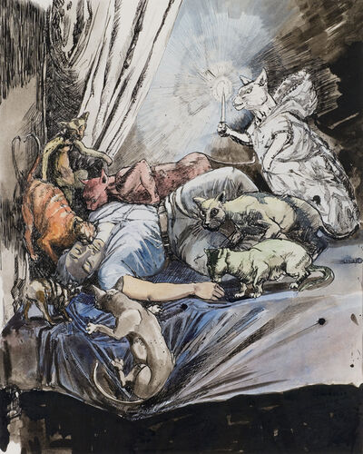 Paula Rego, 'Study for The White Cat', 1994