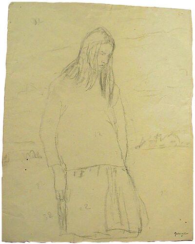Gwen John, 'Standing Girl: Elisabeth de Willman Grabowska', Probably executed late 1910s