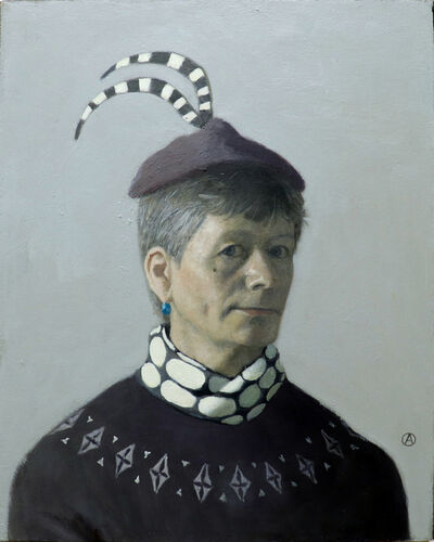 Olga Antonova, 'Self Portrait with Blue Earring', 2019