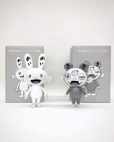 Takashi Murakami, 'Kaikai & Kiki, black and white version (set of 2)', 2019