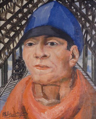 Philip Evergood, 'Head of a Railroad Man', 1945