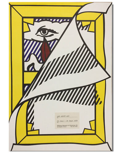 "Roy Lichtenstein, '""Art About Art"", 1978, Whitney Museum Exhibition Poster, RARE', 1978"