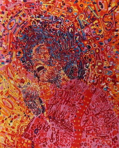 Wadsworth Jarrell, 'Revolutionary, 1972, silk screen, 33x27 inches', 1972