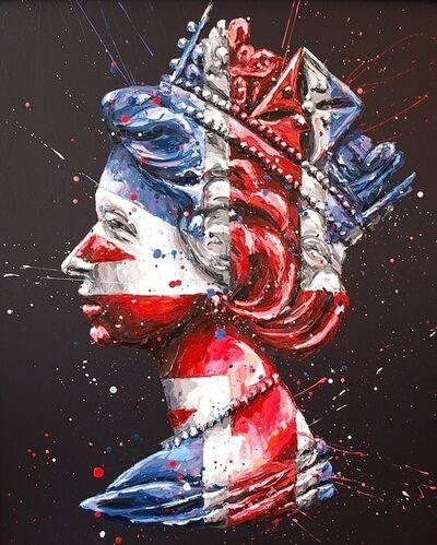 Paul Oz, 'Queen Jack (black background)'