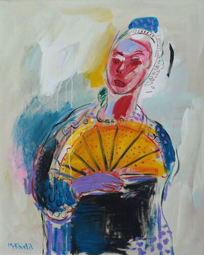 Mohamed Saleh Khalil, 'Woman and a Fan', 2014