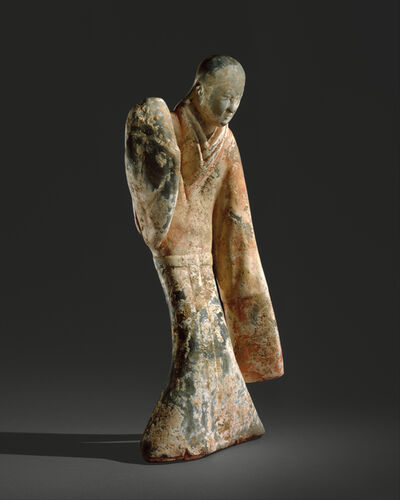 Unknown Chinese, 'Female Dancer (西漢 彩繪陶舞俑)', 2nd century B.C.