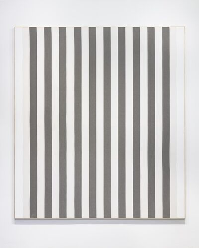 Daniel Buren, 'White acrylic paint on white and gray striped cotton canvas', 1966