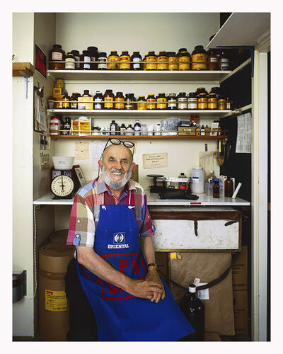 Jim McHugh, 'Ansel Adams in his darkroom, Carmel, CA', 1981