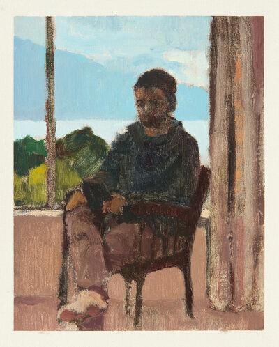 Ian Grose, 'matt reading oryx & crake by the window, queenstown ', 2014