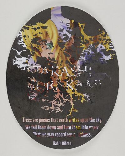 Andrea Bowers, 'Political Poetry - Gagosian Recycled (Murakami & Gibran)', 2013
