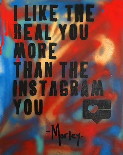 "Morley, '""Instagram You"" - original aerosol on Canvas', 2020"