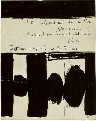 Robert Motherwell, 'Elegy to the Spanish Republic No. 1', 1948