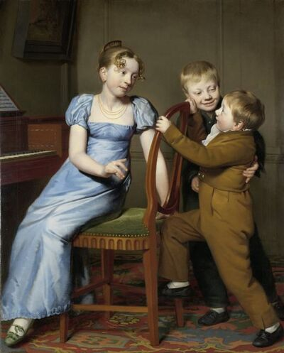 Willem Bartel van der Kooi, 'Piano Practice Interrupted', 1813