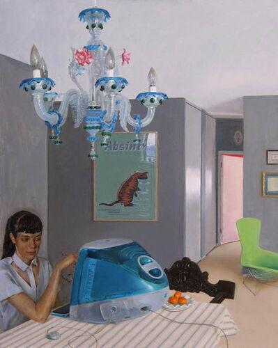 Andrew S. Conklin, 'Interior with iMac and Venetian Chandelier', 2020