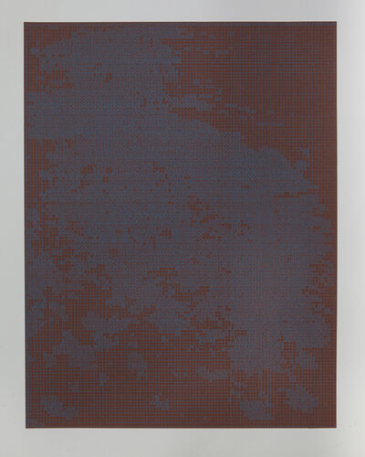 Corinne Laroche, 'Blue on burned brown', 2008