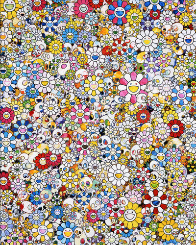 Takashi Murakami, 'Skulls & Flowers Multicolor ', 2013