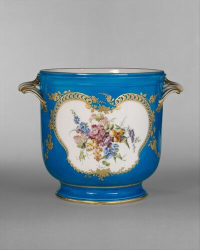 Vincennes Manufactory, 'Wine-bottle cooler (seau à bouteille)', 1754